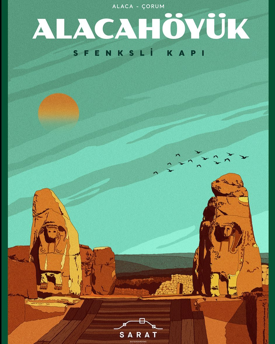 A poster of Alacahöyük from SARAT Project