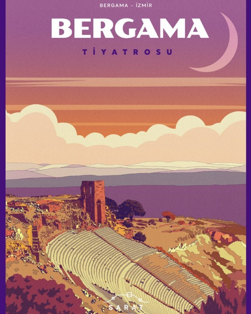 A poster of Bergama from SARAT Project