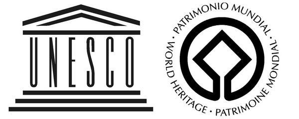 Two of the UNESCO's logos